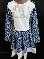 Трикотажные детские платья с рукавом., фото 1