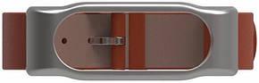 Ремінець MiJobs для Xiaomi Mi Band 2 Шкіряний Brown, фото 3