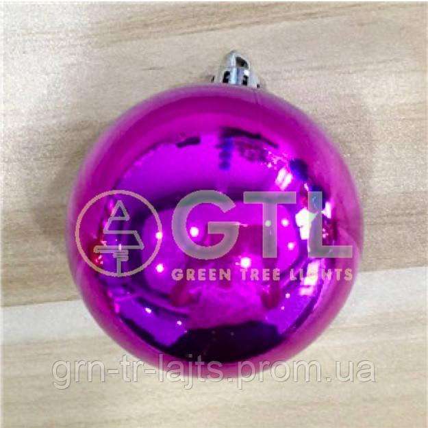 Шар большой на уличную елку Блестящий Фиолетовый D=150мм
