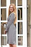 Женское стильное платье-рубашка длины миди с поясом (2 цвета), фото 3