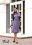 Женское стильное платье-рубашка длины миди с поясом (2 цвета), фото 4