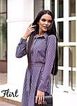 Женское стильное платье-рубашка длины миди с поясом (2 цвета), фото 7