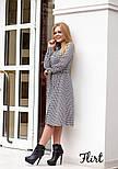 Женское стильное платье-рубашка длины миди с поясом (2 цвета), фото 6