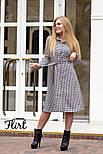 Женское стильное платье-рубашка длины миди с поясом (2 цвета), фото 8