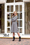 Женское стильное платье-рубашка длины миди с поясом (2 цвета), фото 5