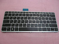 Клавиатура для ноутбуков HPEliteBook Folio 1012, 1020 G1 черная с серебристой рамкой, с подсветкойUA/RU/US