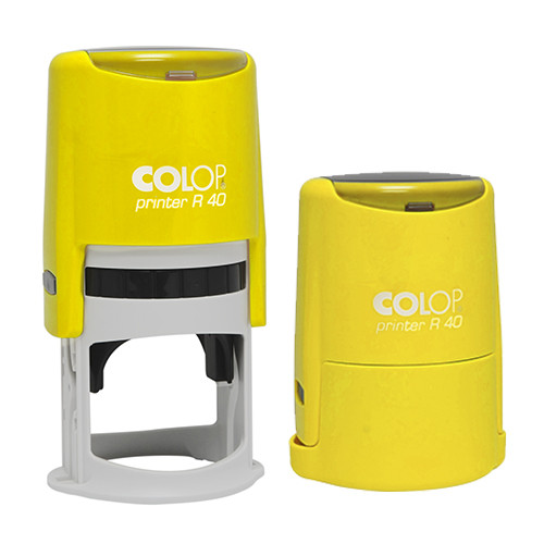 Оснастка для круглой печати Printer R40 жёлтый неон