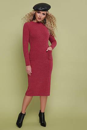 Женское  теплое платье из ангоры   размеры 42-48, фото 2