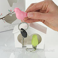 Воробышек для ключей - брелок-ключница для двоих, фото 1