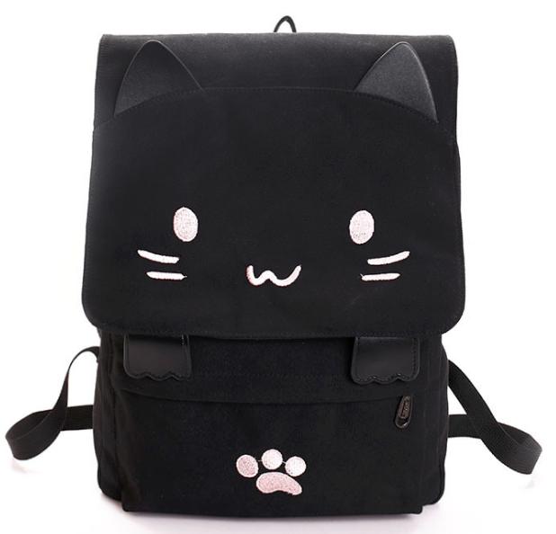 Рюкзак городской с  Котом черный