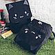 Рюкзак городской с  Котом черный, фото 6