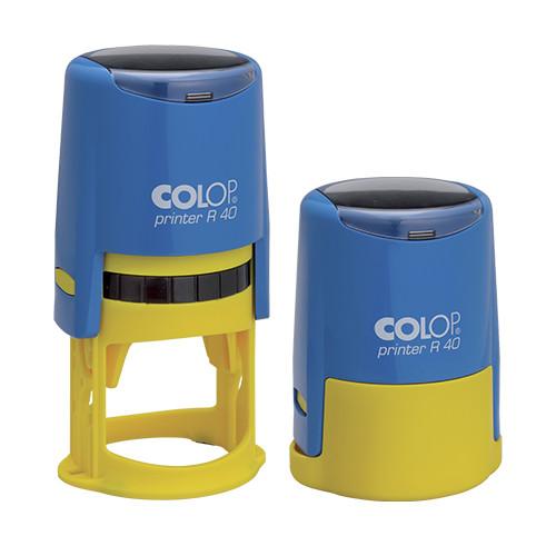 Оснастка для круглой печати Printer R40 сине-жёлтая