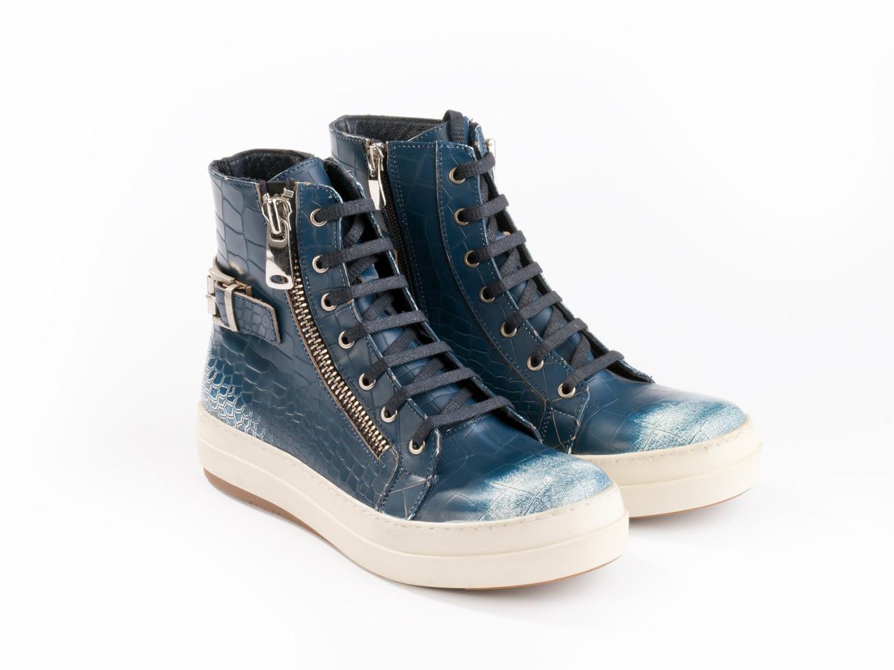 Ботинки Etor 4481-32-374 36 синий+белый