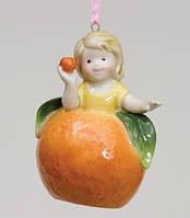 """Фарфоровый подвесной Колокольчик """"Девочка апельсинка"""" Pavone CMS - 36/ 3"""