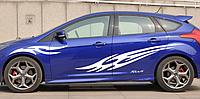 Виниловая наклейка на автомобиль Focus, 170 см