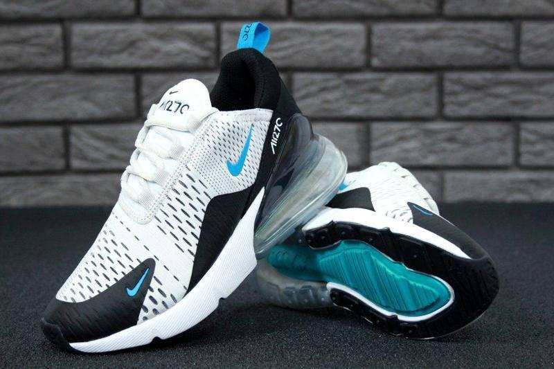 Кроссовки мужские Nike Air Max 270 White Black Blue  продажа, цена в ... 4b2983a7a46