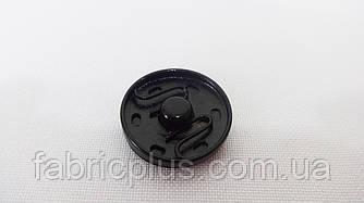 Кнопка пришивная 20 мм черная, никель