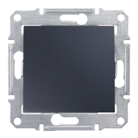 Выключатель - кнопка графит черный Schneider Sedna (sdn0700170)