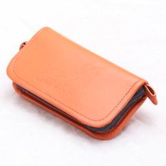 Кошелек для блесен KIBASиз экокожи М Оранжевый (KS5015)