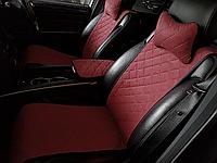 Накидки на сиденья бордовые. Передний комплект. СТАНДАРТ. Авточехлы