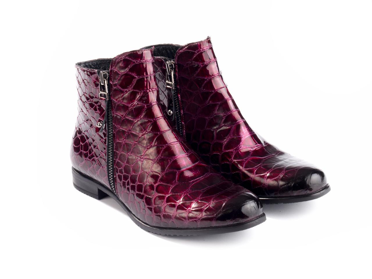 Ботинки Etor 5828-51046-015 37 бордовые