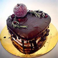 """Подарок на день Влюблённых. Торт """"Сердце"""""""