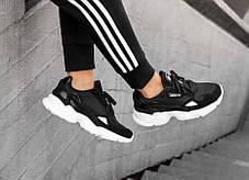 Мужские кроссовки Adidas Falcon Core Black White , фото 2