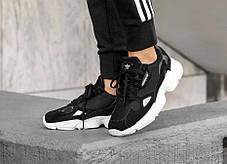 Мужские кроссовки Adidas Falcon Core Black White , фото 3