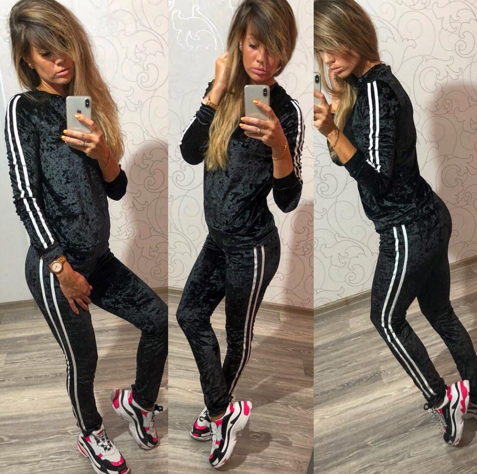 12e488e3 Женский спортивный костюм велюровый черный синий бежевый: продажа ...