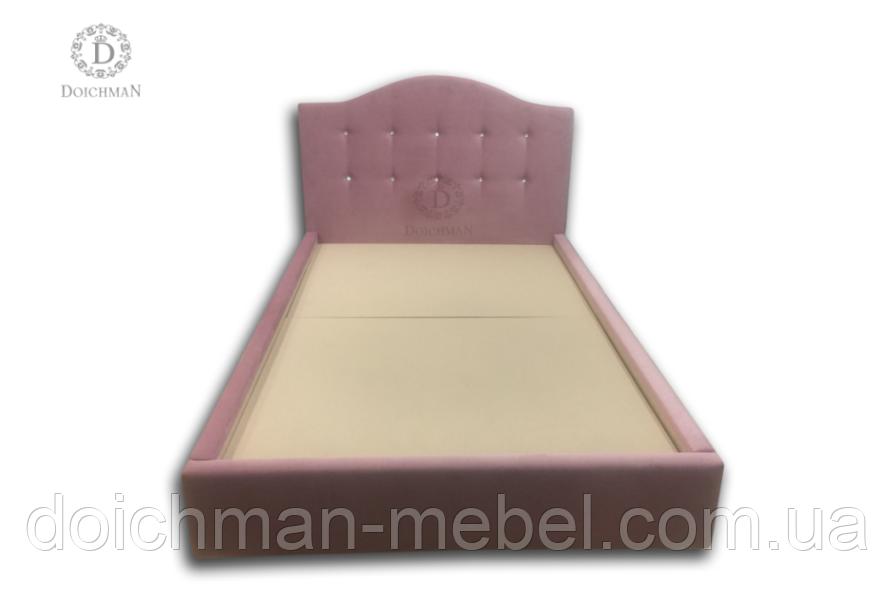 Мягкая кровать cо стразами для девочки