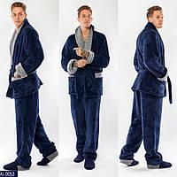 Мужская махровая пижама
