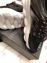 Мужские кроссовки Versace Chain Reaction 2 Chainz Black DSU7071 D9TVG D41H1, фото 2
