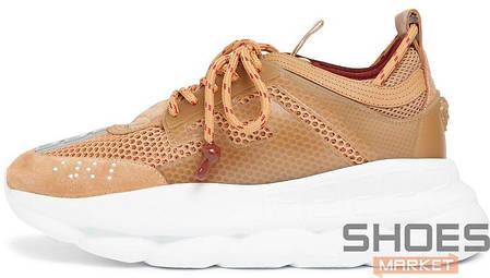 55f8aae8528e Мужские кроссовки Versace Chain Reaction 2 Chainz Tan купить в ...