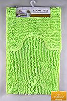 Набор ковриков в ванную комнату из микрофибры лапша ''ROOM MAT'' салатовый  60х90см. и туалет 40х60см.