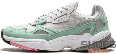 22790807 Женские кроссовки Adidas Falcon Grey Green купить в интернет ...