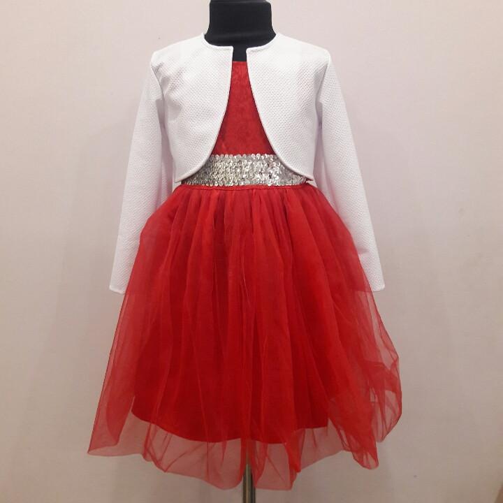 Нарядное платье с болеро для девочки 98-116
