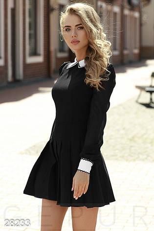 Суворе жіноче плаття в діловому стилі чорний розмір 44 46 48, фото 2