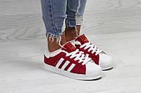 Кроссовки женские красные Adidas Superstar 6365