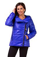 Куртка женская зимняя синего цвета