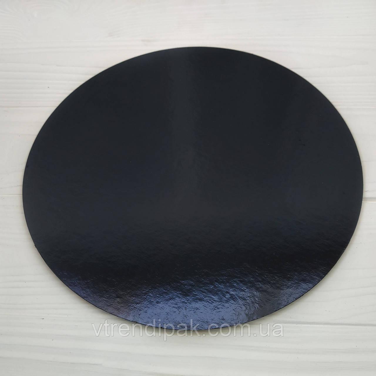 Підложка ламінована чорний-чорний 1.2 мм круг 230мм