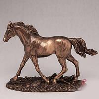 Бронзовая статуэтка Бегущий конь (14 см)