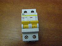 Автоматический выключатель 2р 20А ВА47-29М ИЕК B