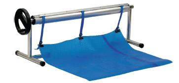 🔥✅Ролета навивочная передвижная 2,7 - 4,4 м Vagner Pool Т - стойки. Наматывающее устройство
