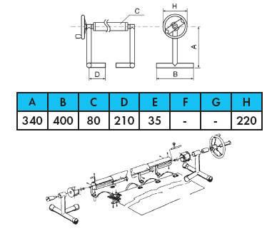 🔥✅Ролета навивочная передвижная 2,7 - 4,4 м Vagner Pool Т - стойки. Наматывающее устройство, фото 2