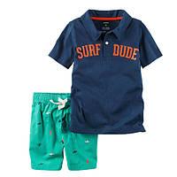 Набор футболка-поло и шорты для мальчика Carters отдых
