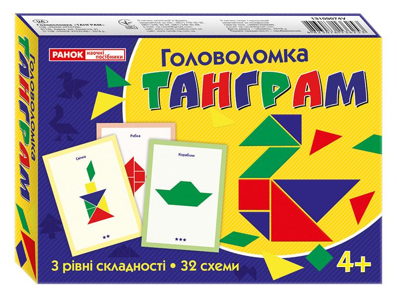"""Настольная игра """"Танграм"""" (животные) Tangram (китайская мозаика) (Ранок)"""