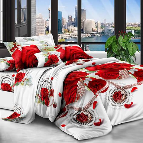 Двуспальный комплект постельного белья 3D (бязь полиэстер, 180х220см), фото 2