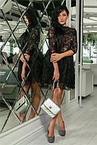 Женское Платье (141)721. (5 цветов) Ткань: турецкое кружево + трикотажная подкладка. Размеры: 42, 44, 46, 48, 50.  , фото 3