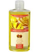 Масло для ухода и массажа Rose&Ilang-Ilang+Peach oil 150мл Fresh Juice
