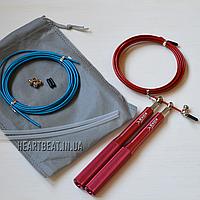 Скоростная скакалка KETIA Red (алюминиевые ручки, запасной кабель)